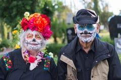 Gente desconocida en el décimo quinto día anual el festival muerto Fotos de archivo