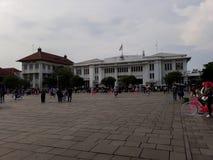 Gente desconocida Museo de Batavia del museo de la historia situado en la ciudad vieja Kota Tua de Jakarta imágenes de archivo libres de regalías