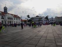 Gente desconocida Museo de Batavia del museo de la historia situado en la ciudad vieja Kota Tua de Jakarta fotos de archivo libres de regalías