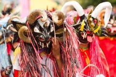 Gente Desguised como diablos Fotografía de archivo libre de regalías