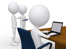 gente di affari 3D ad una riunione corporativa illustrazione vettoriale