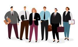 Gente di affari in abbigliamento convenzionale illustrazione di stock