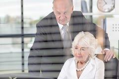 Gente di affari anziana Fotografia Stock Libera da Diritti