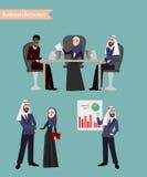 Gente di affari araba di riunione Fotografia Stock