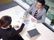 Gente di affari asiatica Immagini Stock Libere da Diritti