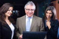 Gente di affari astuta Immagini Stock