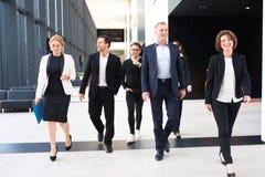 Gente di affari camminare della squadra immagine stock libera da diritti