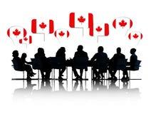 Gente di affari canadese che ha una riunione Immagini Stock Libere da Diritti