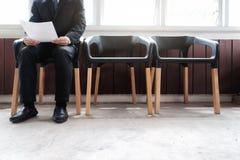 Gente di affari che aspetta intervista di lavoro Fotografia Stock Libera da Diritti