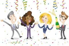 Gente di affari che celebra illustrazione vettoriale