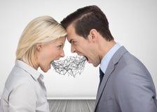Gente di affari che grida ad a vicenda Immagine Stock Libera da Diritti