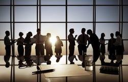 Gente di affari che ha discussione di gruppo Fotografia Stock