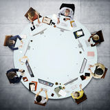Gente di affari che incontra concetto di lavoro di discussione Fotografie Stock Libere da Diritti