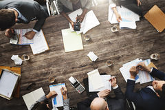 Gente di affari che incontra concetto economico dell'obiettivo di successo di crescita Fotografie Stock