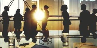 Gente di affari che incontra discussione Team Concept corporativo Fotografia Stock