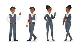Gente di affari che lavora nella progettazione di vettore del carattere dell'ufficio no14 royalty illustrazione gratis