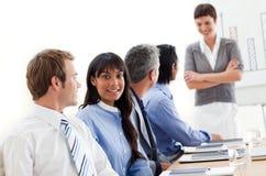 Gente di affari che mostra diversità etnica Fotografia Stock