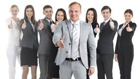 Gente di affari che mostra i pollici in su immagine stock