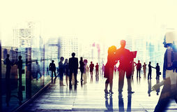 Gente di affari che parla concetto di conversazione del collegamento Fotografia Stock