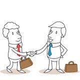 Gente di affari che stringe le mani royalty illustrazione gratis