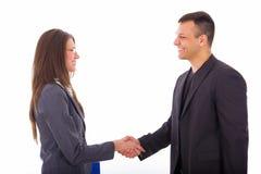 Gente di affari che stringe le mani Immagine Stock