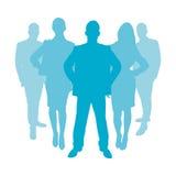Gente di affari come siluetta Fotografia Stock