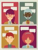 Gente di affari con le bolle di conversazione Fotografia Stock Libera da Diritti