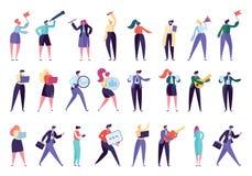 Gente di affari corporativa della serie di caratteri dell'aggeggio royalty illustrazione gratis