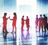 Gente di affari corporativa di Team Discussion Working Concept fotografie stock
