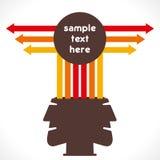 Gente di affari creativa dei informazione-grafici illustrazione di stock