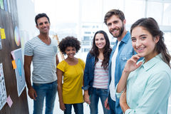 Gente di affari creativa sul lavoro dalla lavagna Fotografia Stock Libera da Diritti