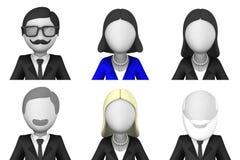 Gente di affari degli avatar 3d Immagine Stock