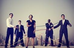 Gente di affari del collegamento corporativo Team Concepts Fotografia Stock