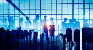 Gente di affari del collegamento di discussione di concetto corporativo di riunione immagini stock libere da diritti