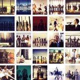 Gente di affari del collegamento di saluto di concetto corporativo della raccolta Immagine Stock