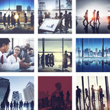 Gente di affari del collegamento di saluto di concetto corporativo della raccolta Fotografie Stock