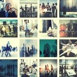 Gente di affari del collegamento di saluto di concetto corporativo della raccolta Fotografia Stock Libera da Diritti