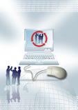 Gente di affari del grafico commerciale Fotografia Stock Libera da Diritti