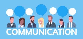 Gente di affari del gruppo di comunicazione di concetto delle donne di affari di Team Of Successful Businessmen And illustrazione di stock