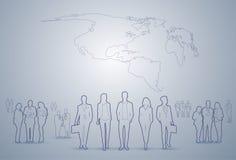 Gente di affari del gruppo dei quadri Team Businesspeople Teamwork Concept della siluetta illustrazione vettoriale