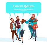 Gente di affari del gruppo di chiacchierata delle persone di affari della bolla che parlano discutendo comunicazione royalty illustrazione gratis