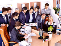 Gente di affari del gruppo in ufficio. Fotografia Stock Libera da Diritti