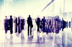 Gente di affari del pendolare di città di concetto occupato di vita Fotografia Stock