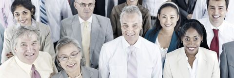 Gente di affari del pubblico Team Gathering Group Concept Immagini Stock