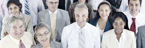 Gente di affari del pubblico Team Gathering Group Concept Immagini Stock Libere da Diritti