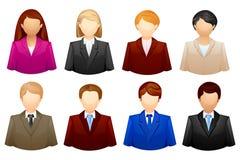 Gente di affari dell'icona Immagini Stock
