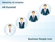 Gente di affari dell'icona Icona dell'utente del responsabile Gerarchia della società Piramide di ora Struttura di affari della s Fotografia Stock