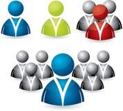 Gente di affari dell'insieme dell'icona Immagini Stock Libere da Diritti