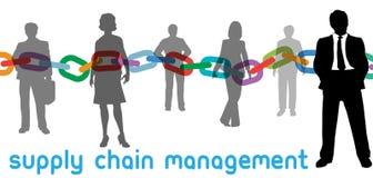 Gente di affari della gestione di catena di rifornimento di SCM illustrazione vettoriale