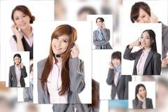 Gente di affari della parete Fotografia Stock